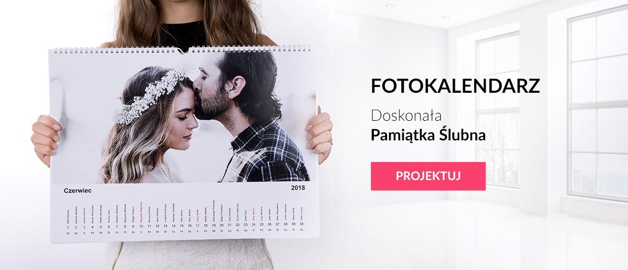 Fotokalendarz pamiątka ślubna