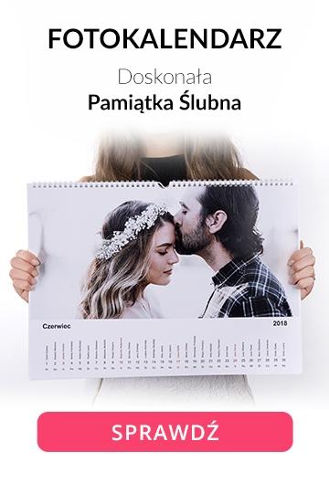 Fotokalendarz A3 pamiątka ślubna
